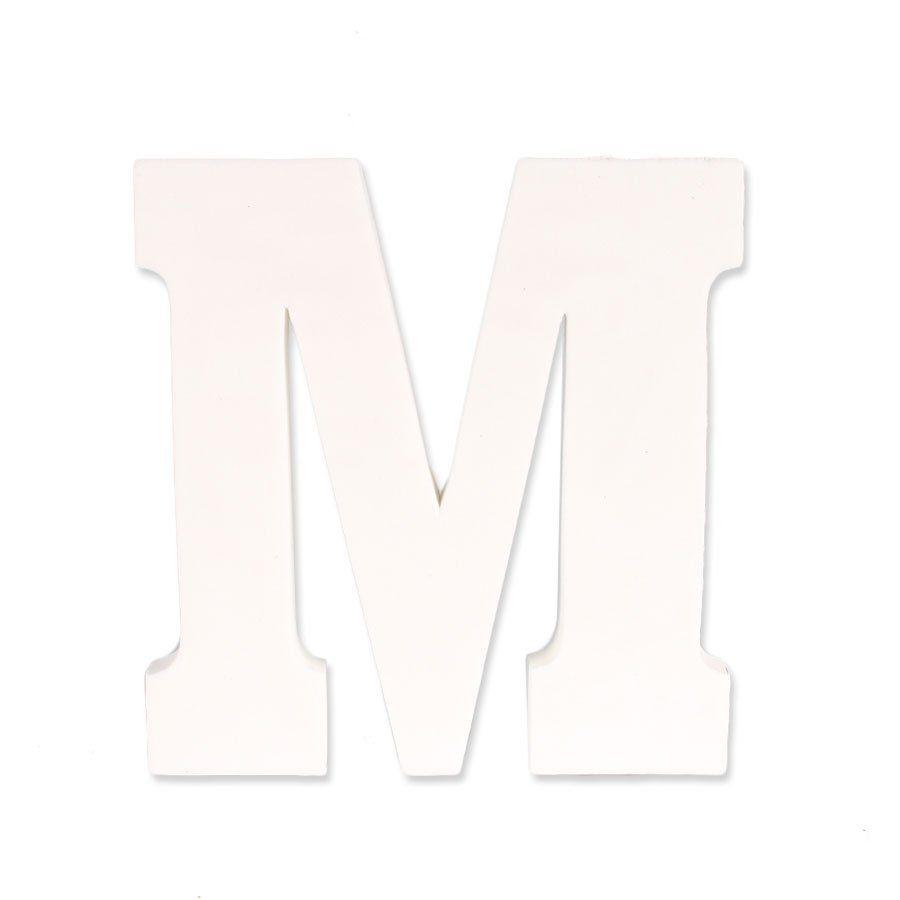 Letra M em EVA Provençal Branca