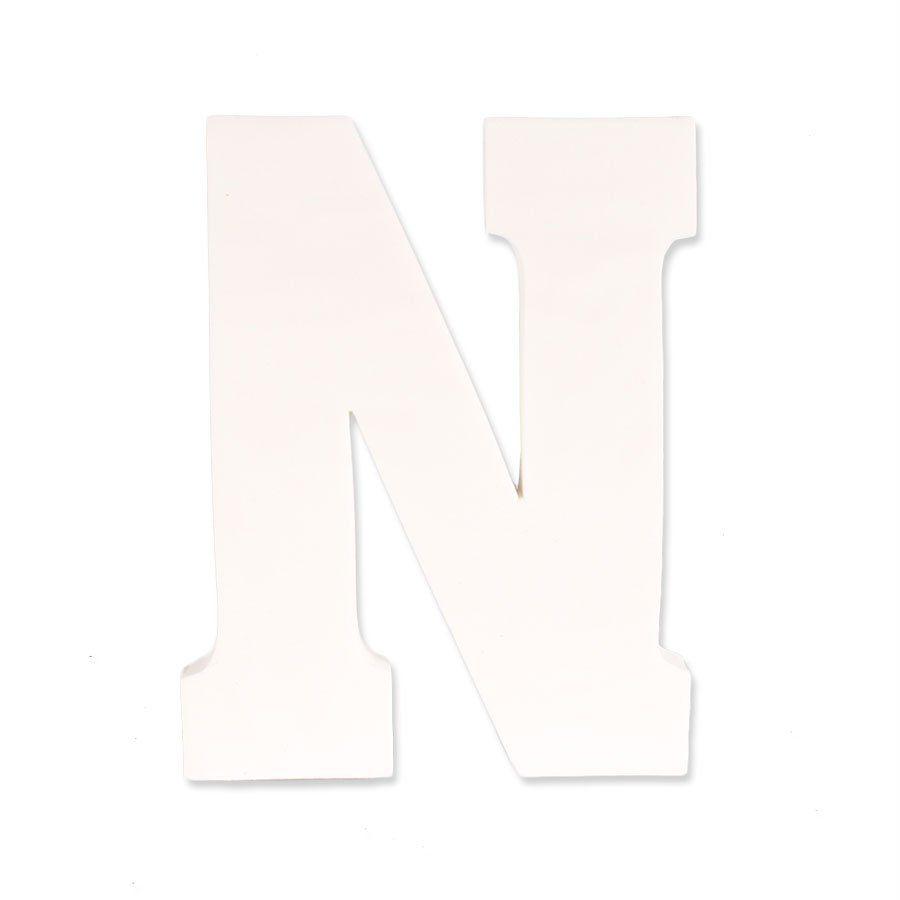 Letra N em EVA Provençal Branca