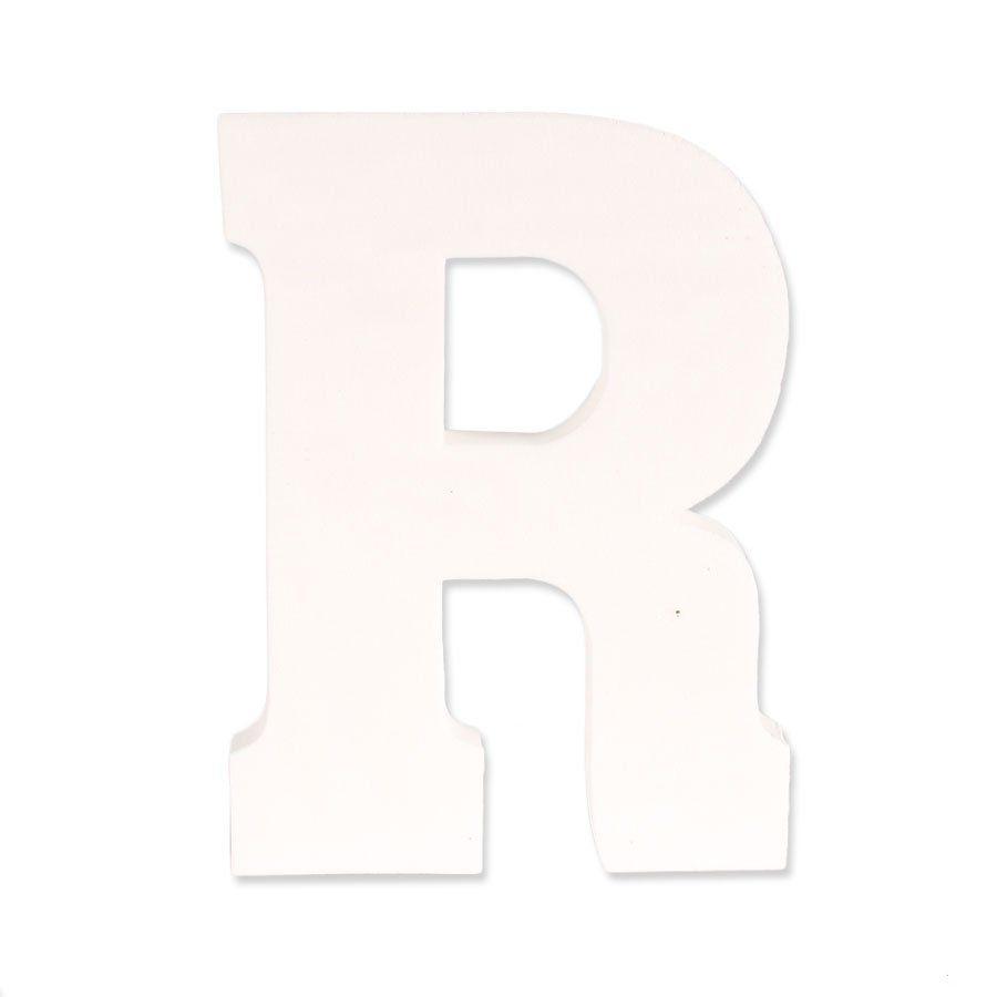 Letra R em EVA Provençal Branca