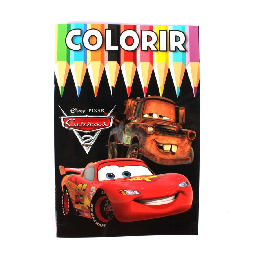 Livro Para Colorir Carros Alua Festas