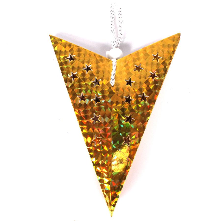 Estrela Holográfica Vazada 40cm - Várias Cores