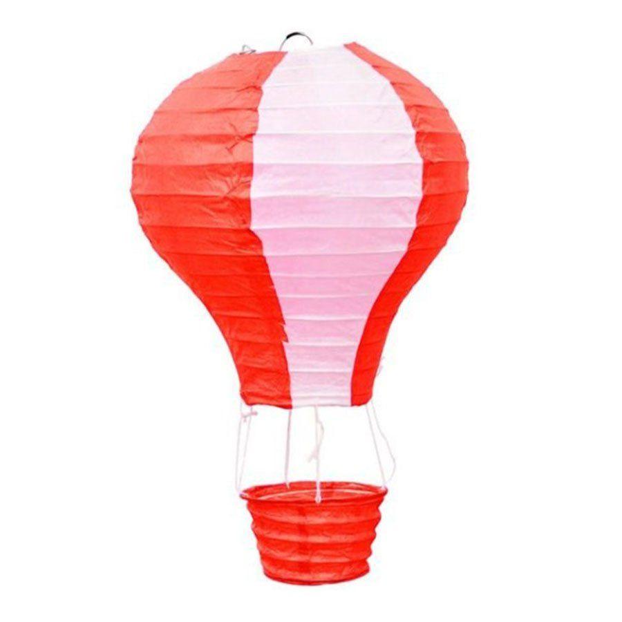 Luminária Japonesa de Papel Vermelha e Branca