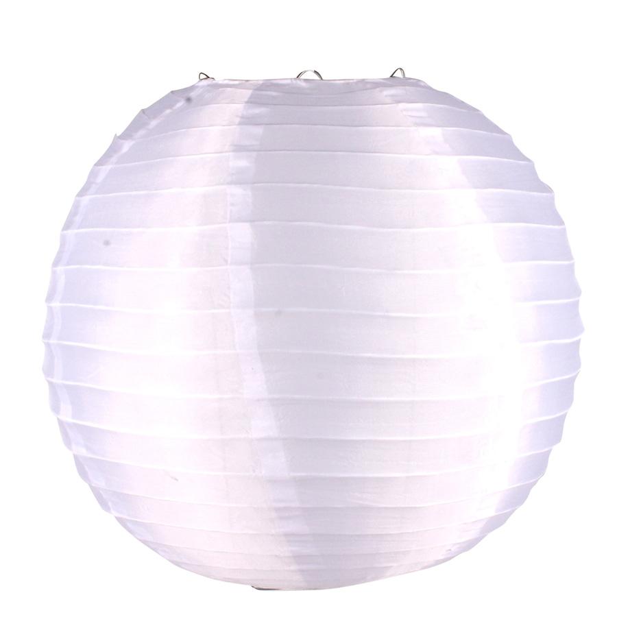 Luminária Redonda Tecido 30Cm Branca