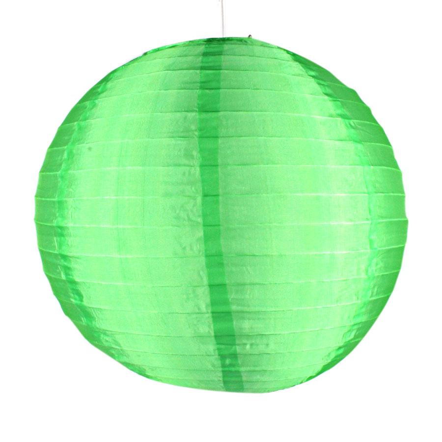 Luminária Redonda Tecido 30Cm Verde