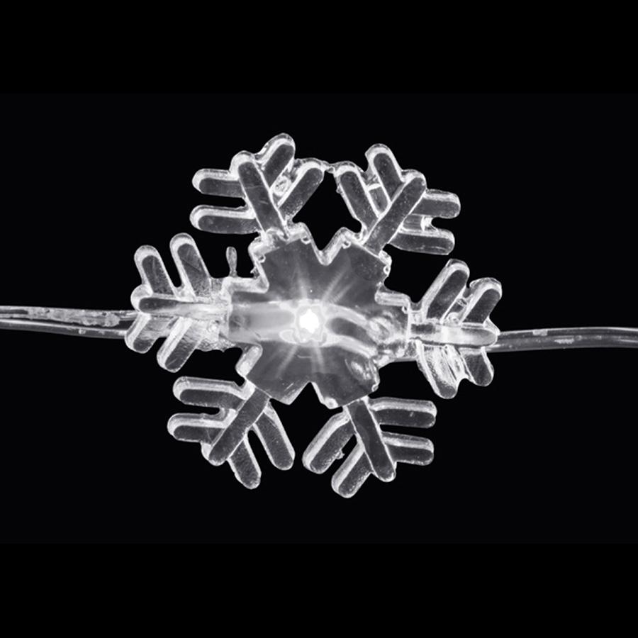 Luz Led Floco De Neve 3M Branco A Pilha - Aluá Festas 7d6697f5da