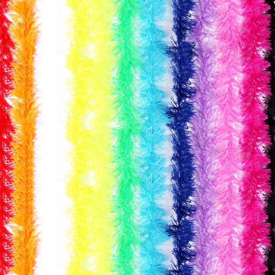 Marabu Sintético Colorido com Fios Metalizados 100cm