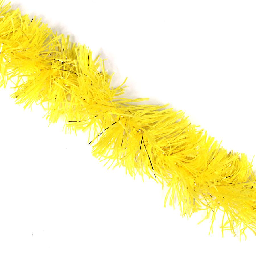 Marabu Sintético Amarelo com Fios Metalizados