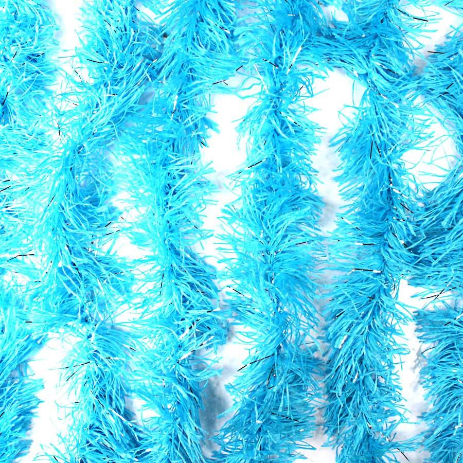 Marabu Sintético Azul Claro com Fios Metalizados