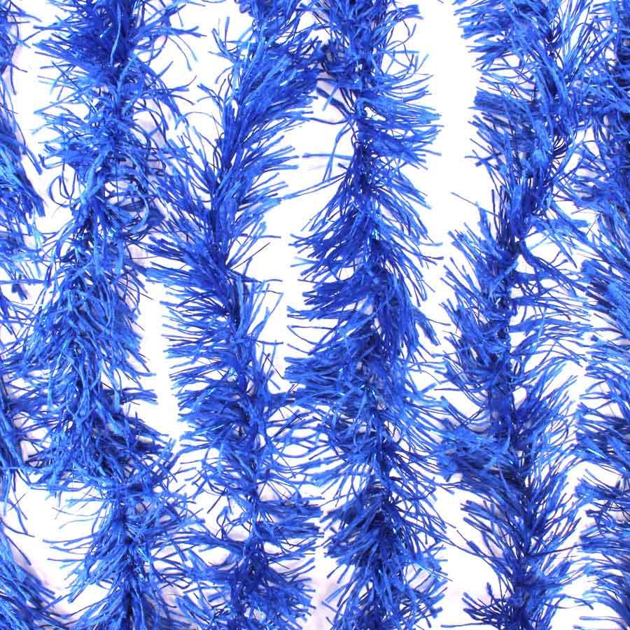 Marabu Sintético Azul Escuro com Fios Metalizados