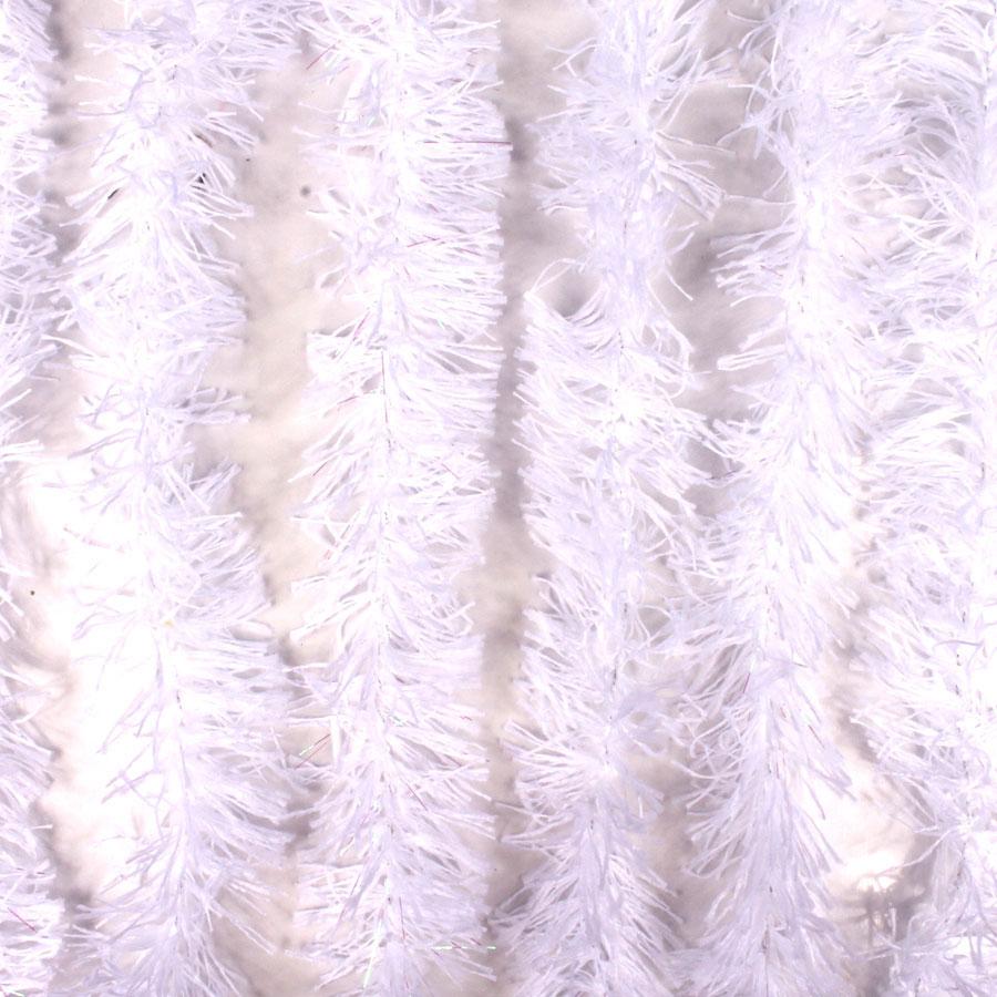 Marabu Sintético Branco com Fios Metalizados