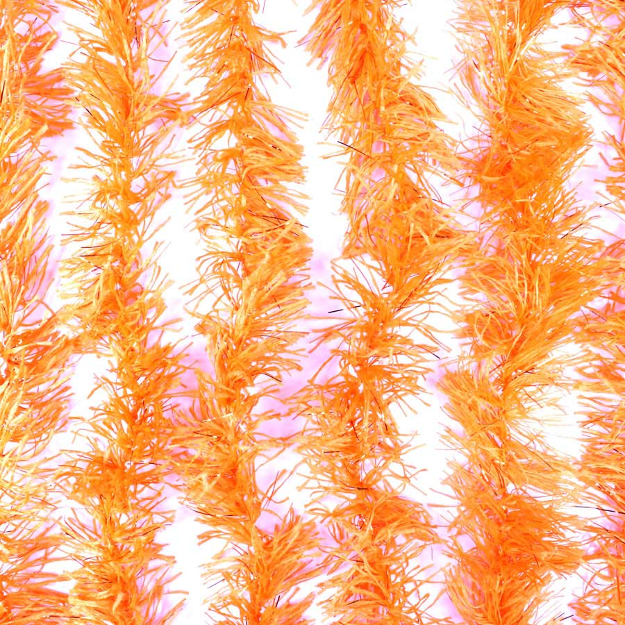 Marabu Sintético Laranja com Fios Metalizados