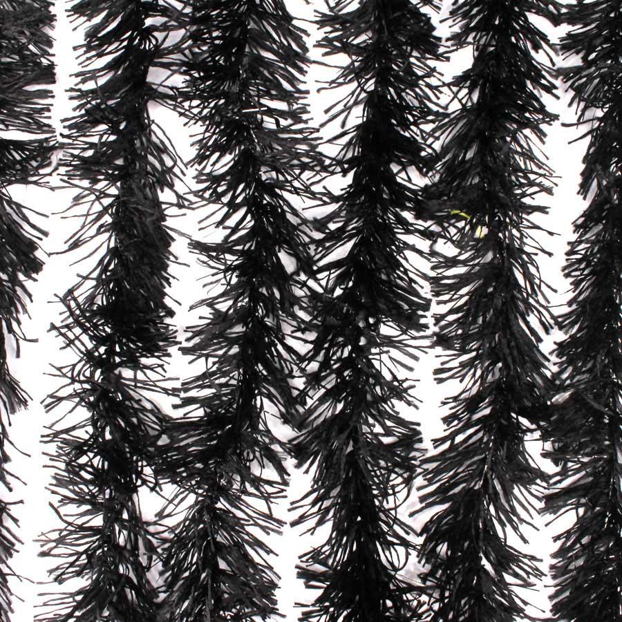 Marabu Sintético Preto com Fios Metalizados