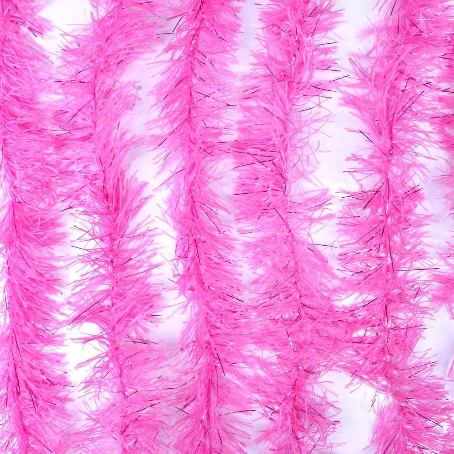 Marabu Sintético Rosa com Fios Metalizados