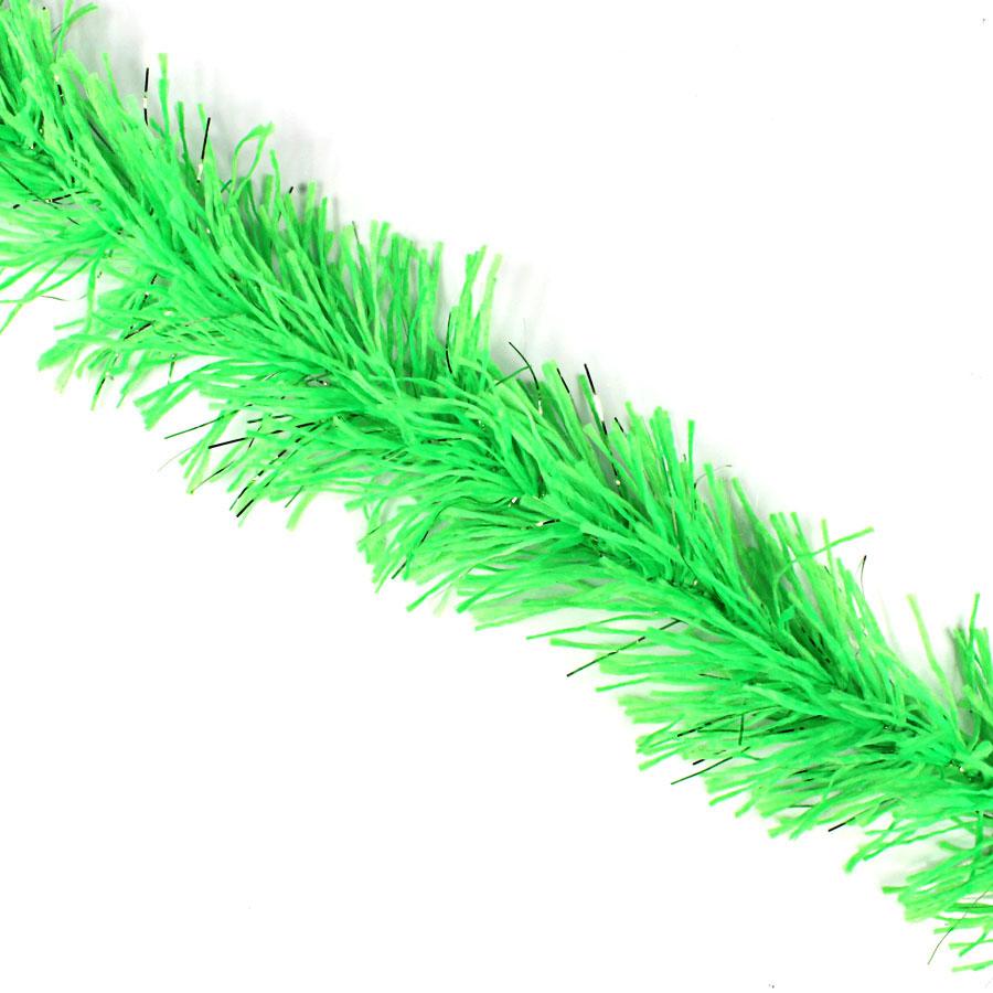 Marabu Sintético Verde com Fios Metalizados