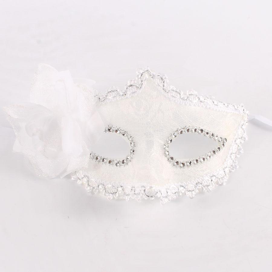Máscara Branca Com Renda