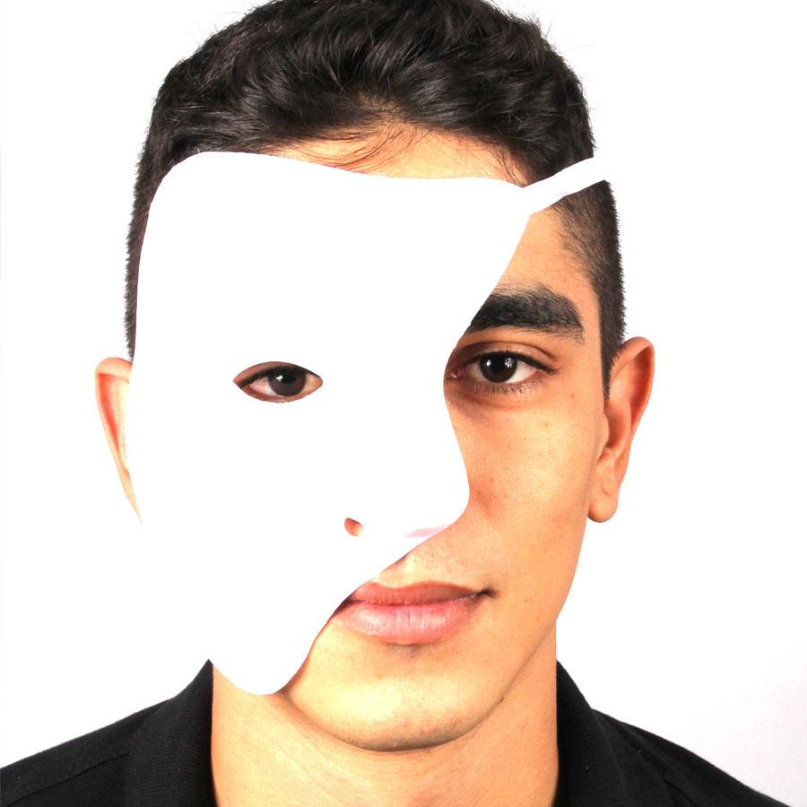Máscara Plástica Fantasma Da Ópera