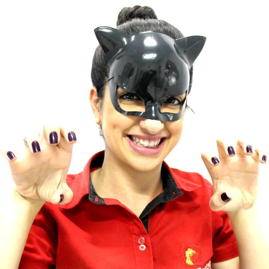 Máscara Plástica Mulher Gato