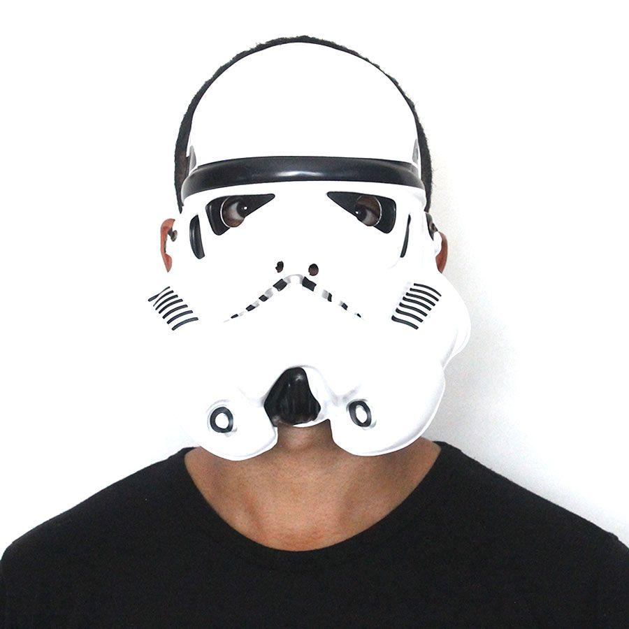 Máscara Plástica Stormtrooper Star Wars