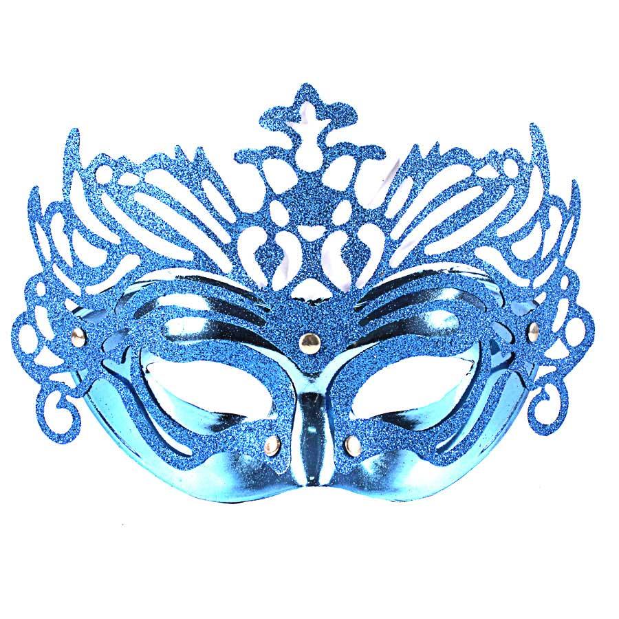 Máscara Veneziana Luxo - Azul