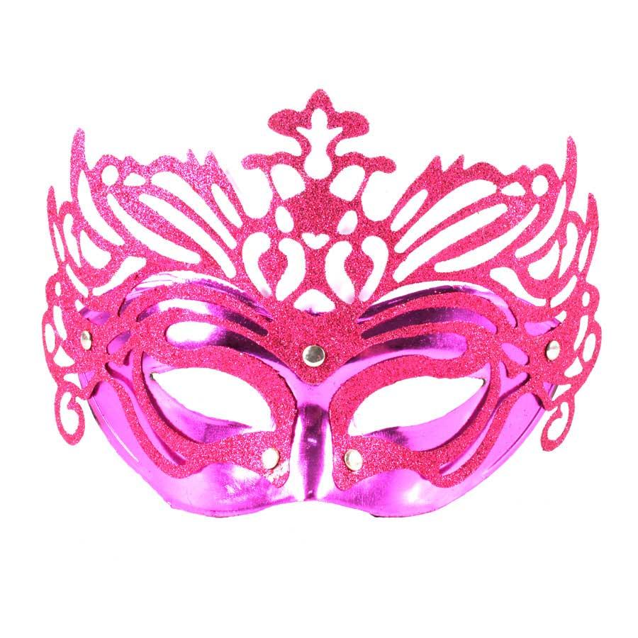 Máscara Veneziana Luxo Pink