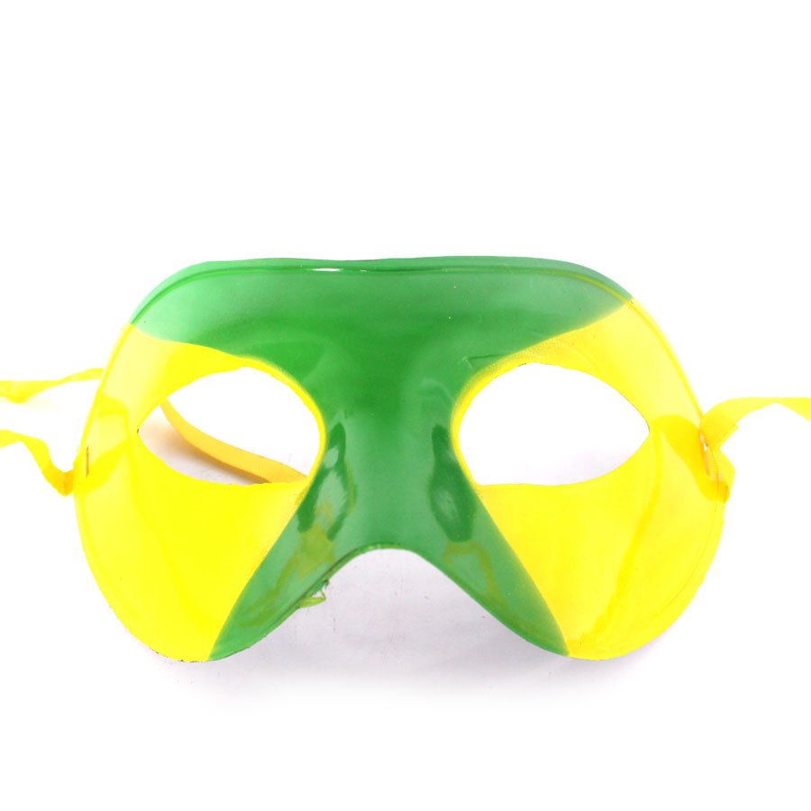 Máscara Veneziana Verde e Amarela Brasil