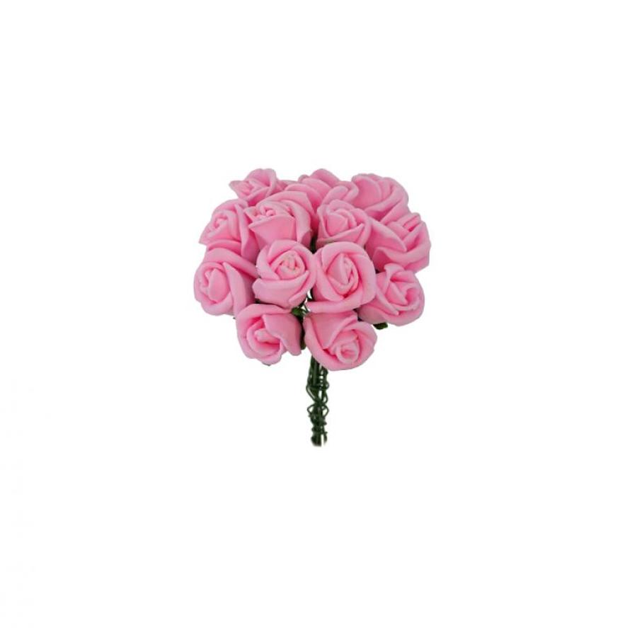 Mini Buquê de Rosas Artificiais - Várias Cores