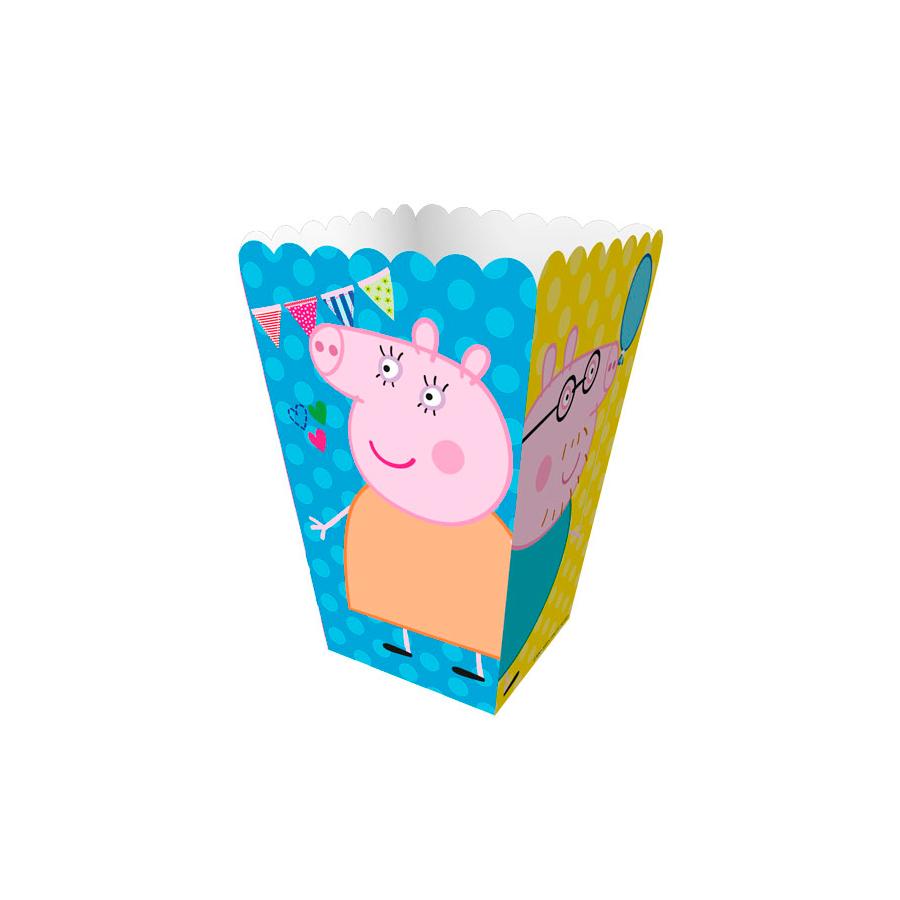 Mini Caixa Para Pipoca Peppa 12Un