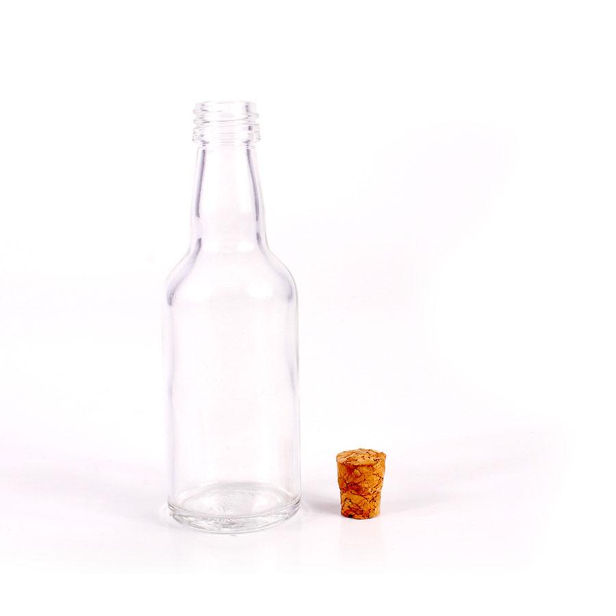 Mini Garrafa de Vidro Para Personalizar com Tampa de Rolha para Lembrancinha
