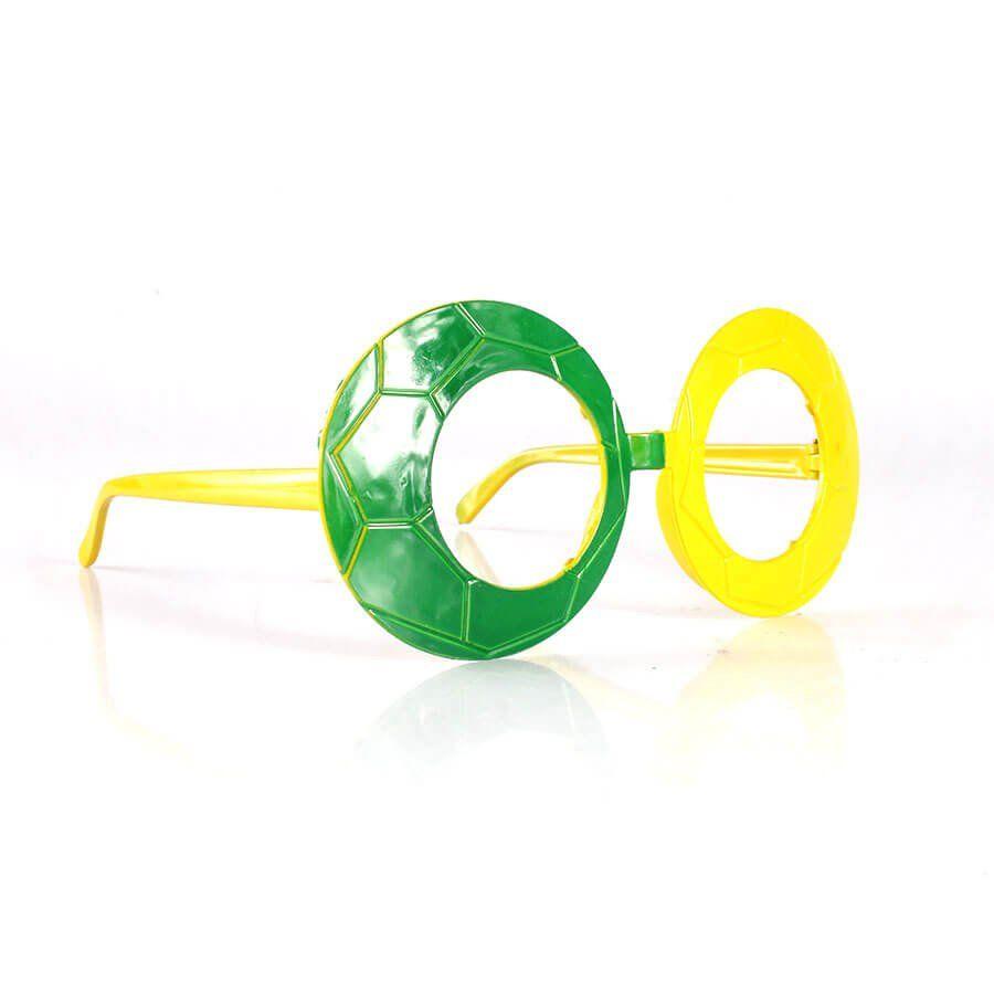 Óculos Bola de Futebol Verde e Amarelo Copa 2018