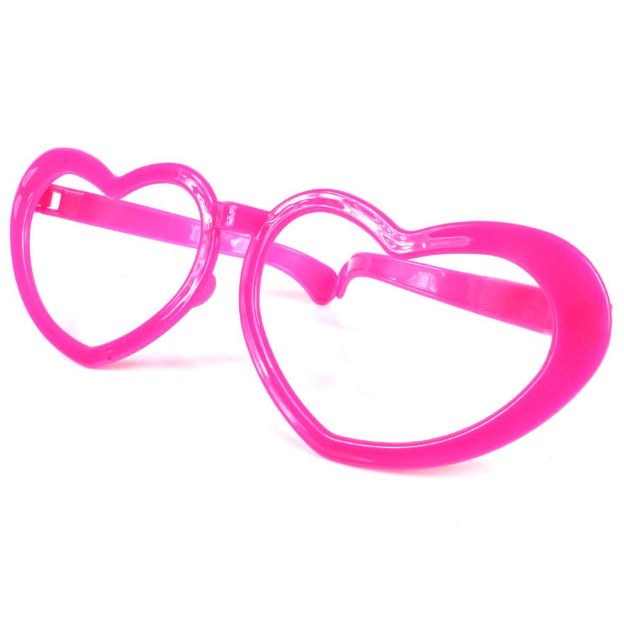 Óculos Gigante Coração Sem Lente - Cores Sortidas