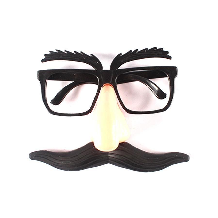 Óculos Máscara com Nariz e Bigode para Fantasias