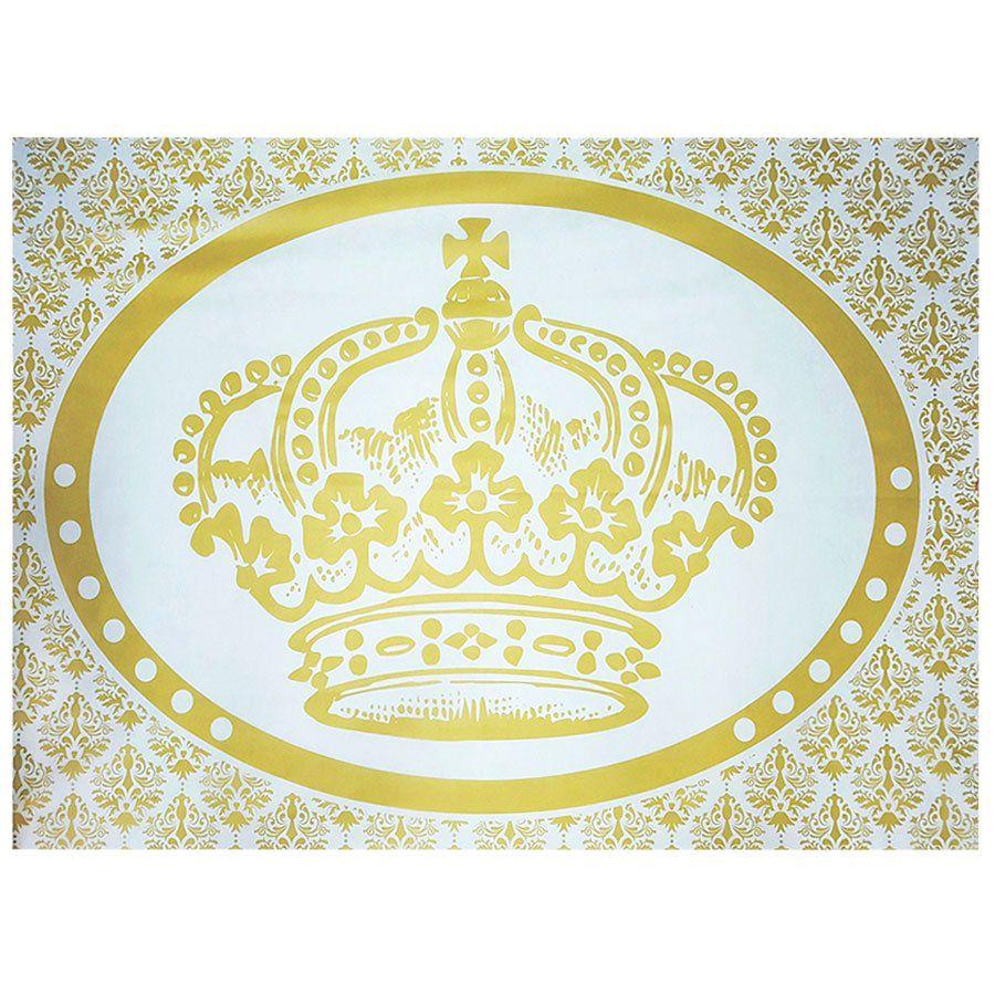 Painel de Festa TNT Coroa Dourada