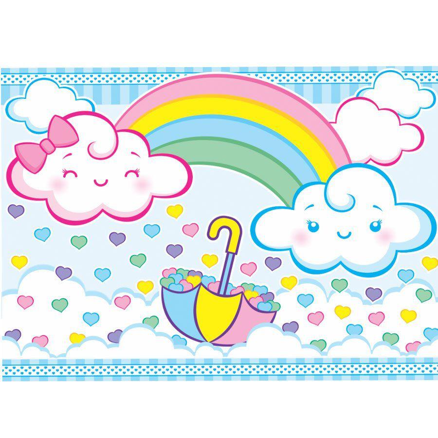 Painel de Festa TNT Nuvens Chuva de Amor