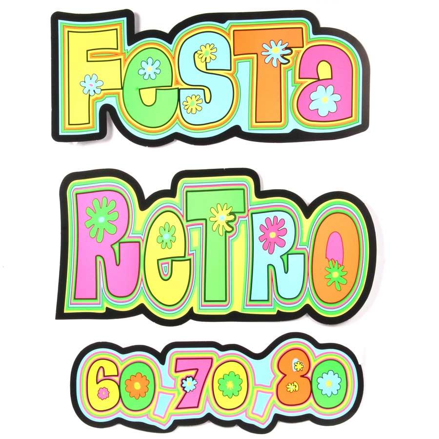 Painel Letreiro Retrô Anos 60 70 E 80 Aluá Festas