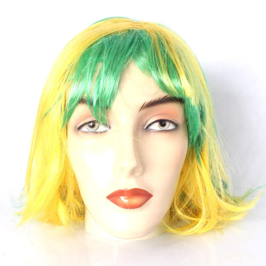 Peruca Chanel Verde e Amarela