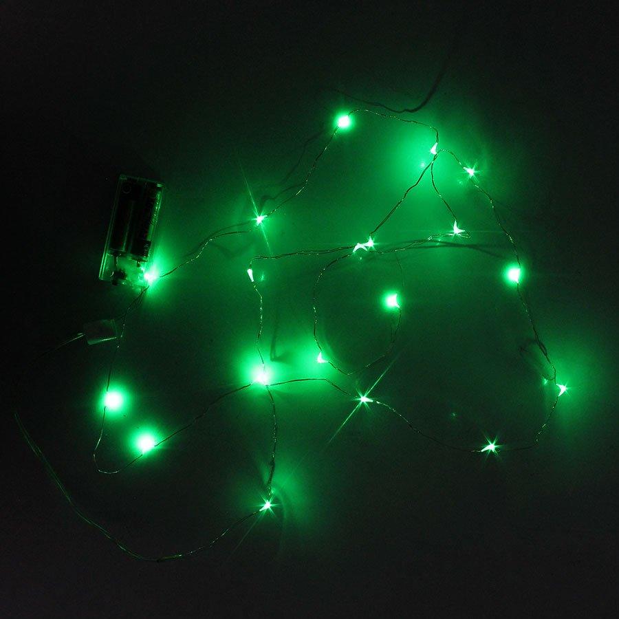Cordão Luz de Fada Aramado de LED Verde - 215cm - Aluá Festas 3e510357f7