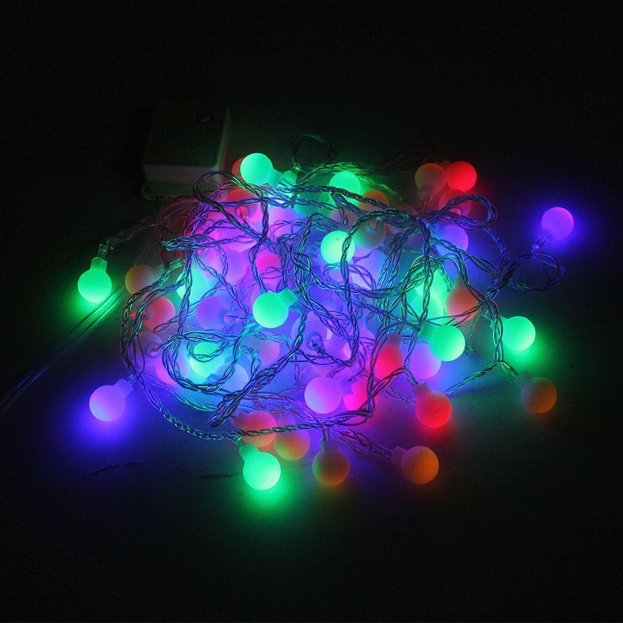 Pisca Pisca Colorido com 60 Bolinhas LED - 110V - Aluá Festas d9e76c619b