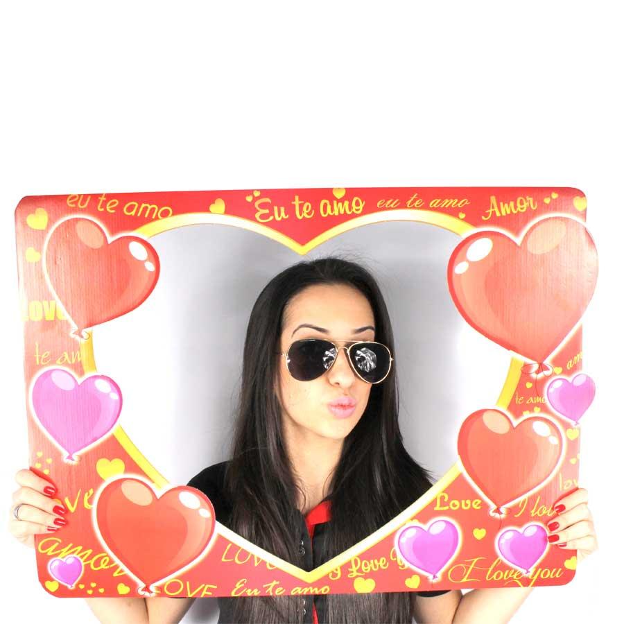 Placa Fotográfica Coração