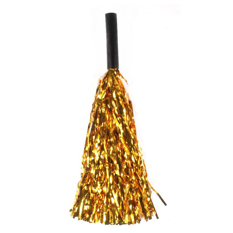 Pompom Metalizado Dourado - Unidade
