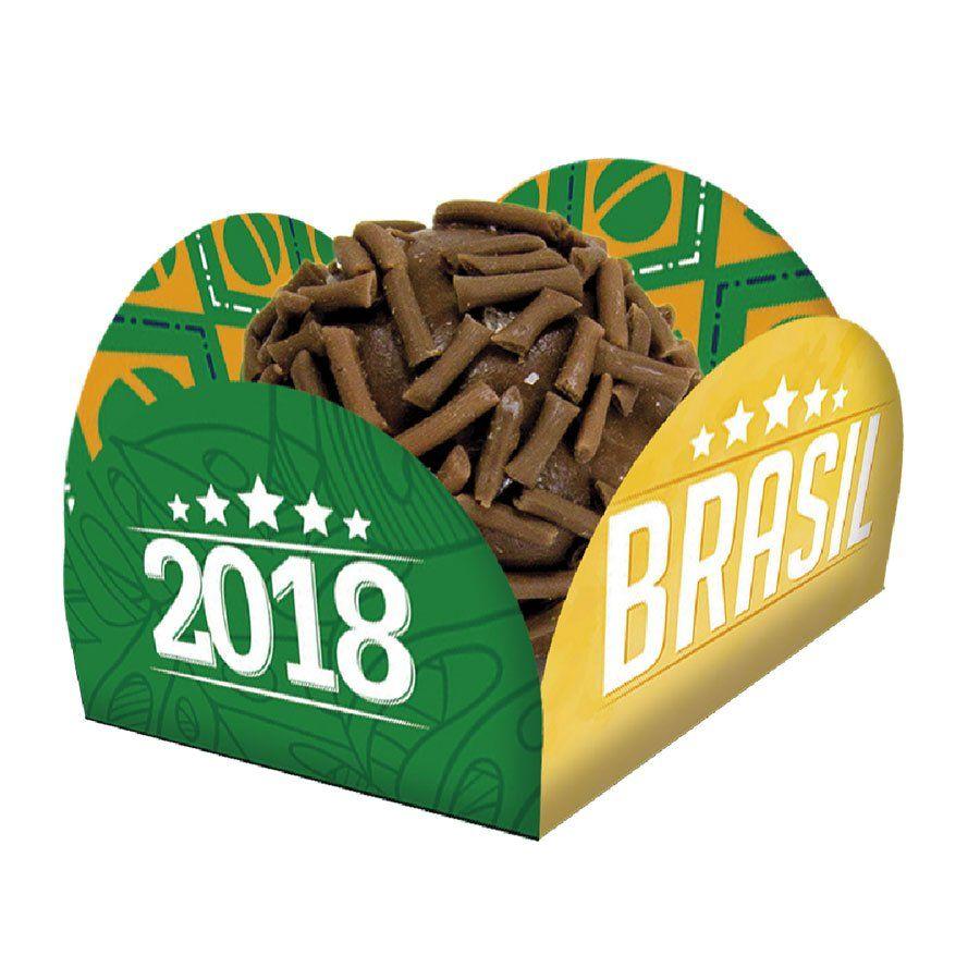 Porta Forminha para Doces Brasil Copa 2018 - 40 Unidades - Aluá Festas 702a4f3f04d