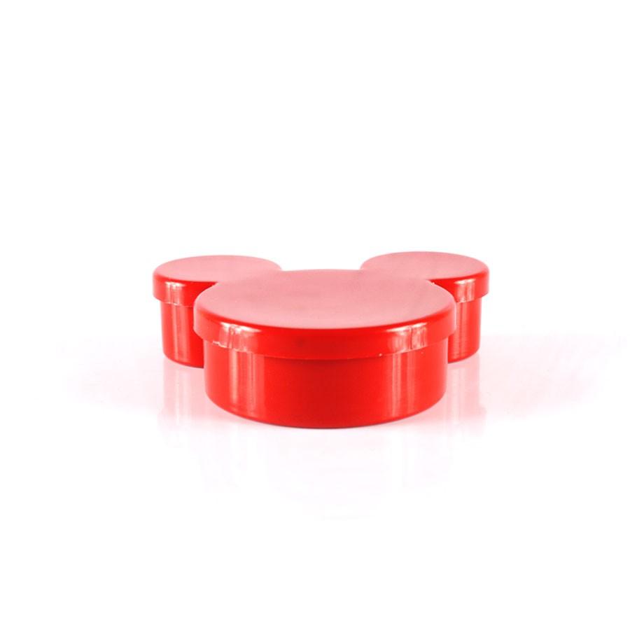 Potinho de Plástico Mickey para Personalizar Vermelho