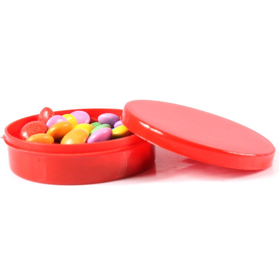 Potinho de Plástico para Personalizar Vermelho