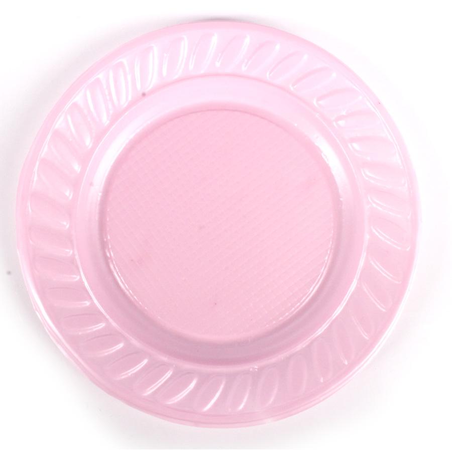 Prato Descartável 15Cm 10Un Rosa