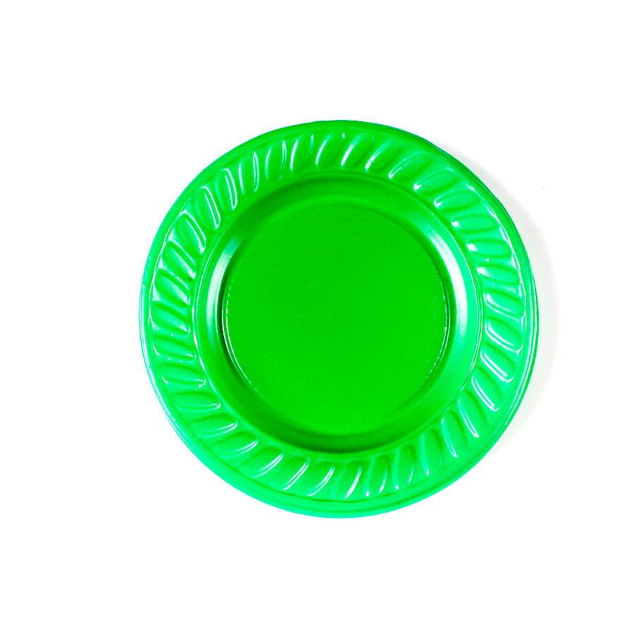 Prato Descartável 15Cm 10Un Verde Escuro