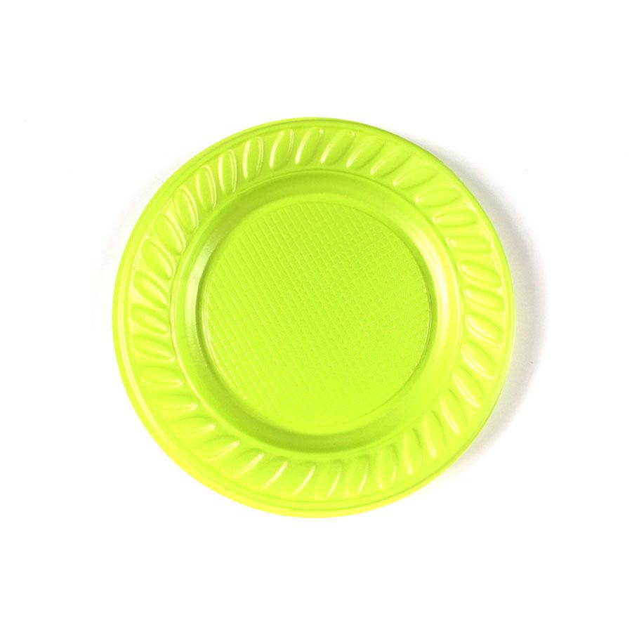 Prato Descartável 15Cm 10Un Verde Limão