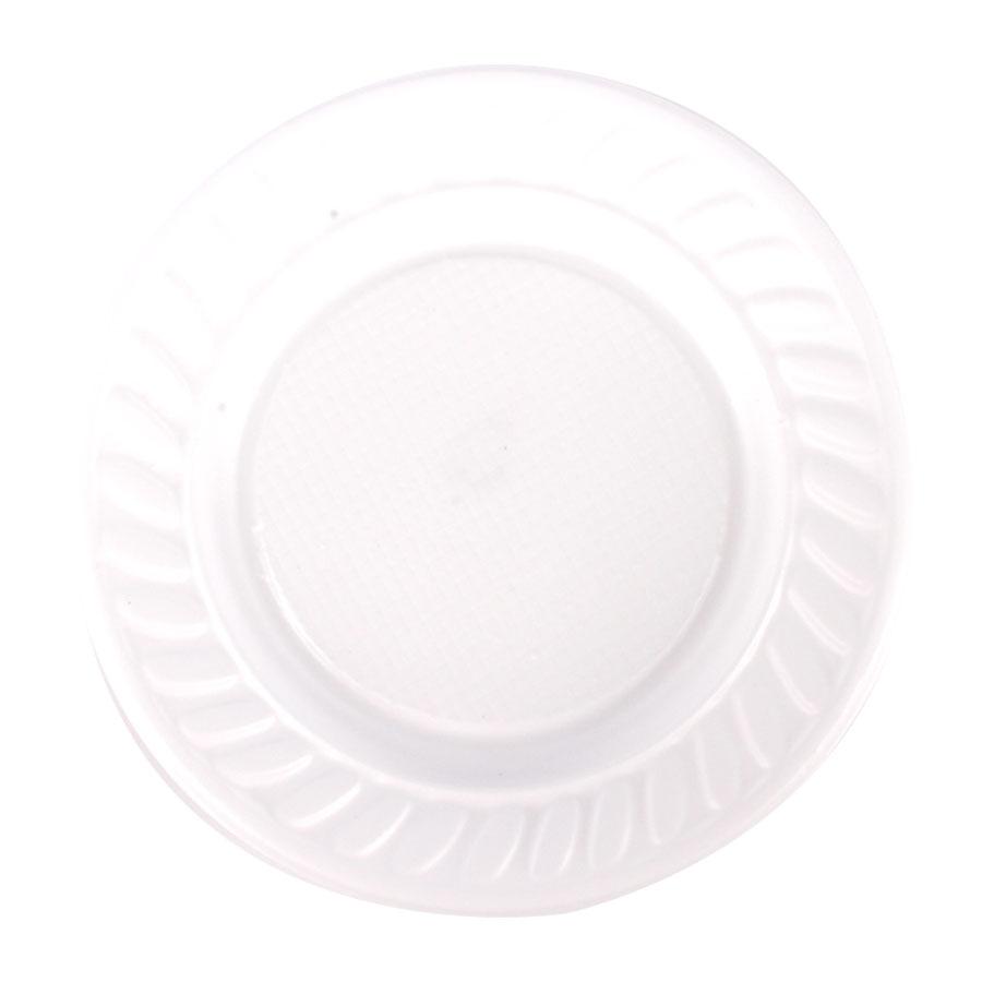 Prato de Plástico Descartável Branco 15cm - 10 Unidades