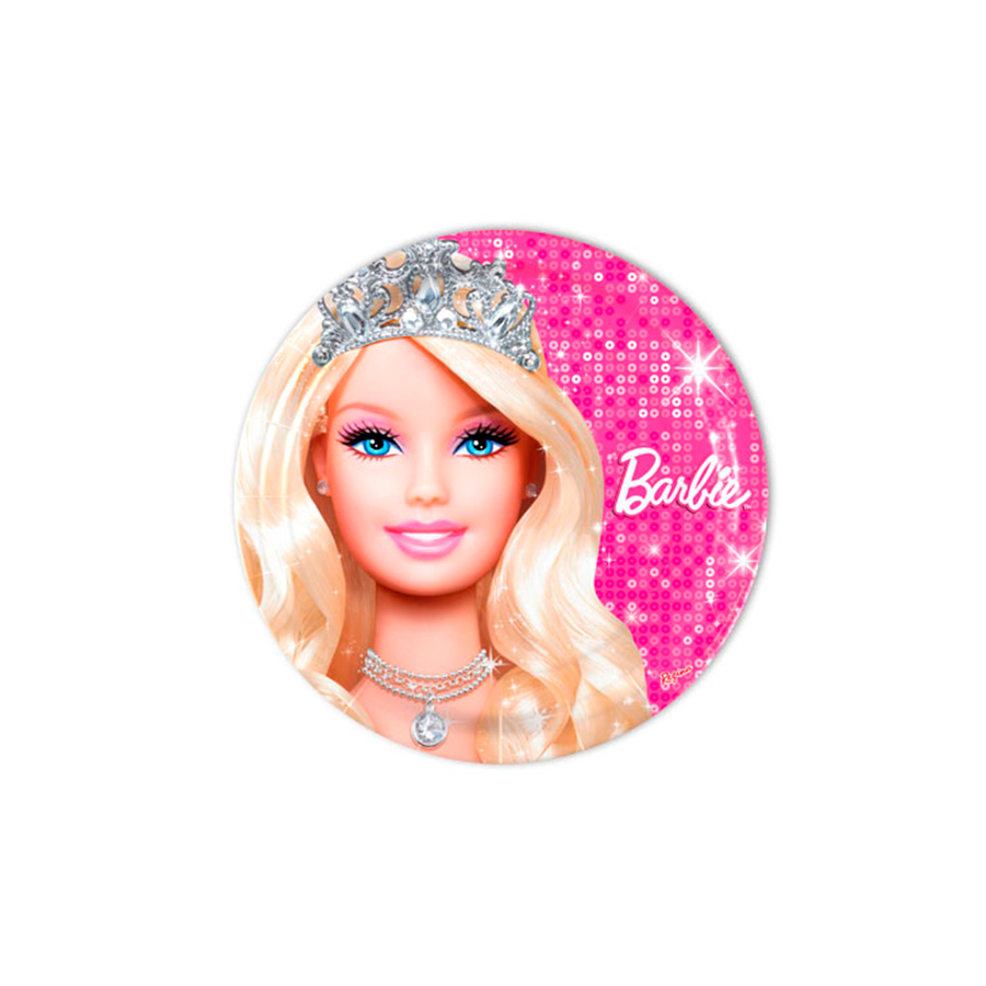 Prato Redondo 18Cm Barbie 8Un