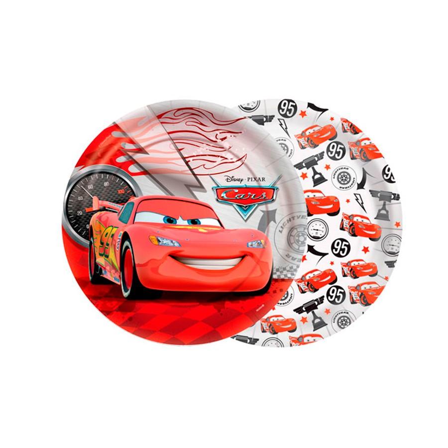 Prato Redondo 18Cm Carros 8Un