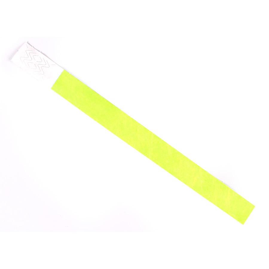 Pulseira De Identificação Tyvek Amarela ( Pacote Com 10 Un )