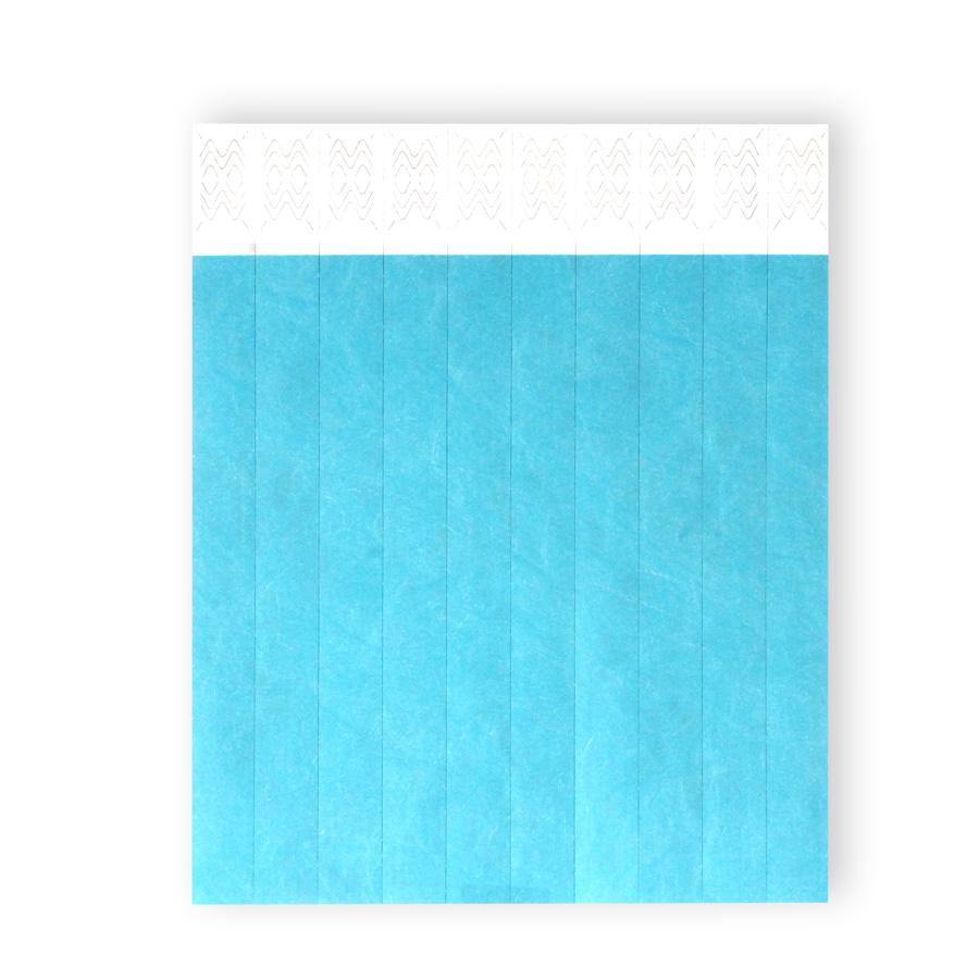 Pulseira De Identificação Azul 10Un